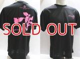 DRY TシャツM's WORKS『 一撃 』黒×ピンク