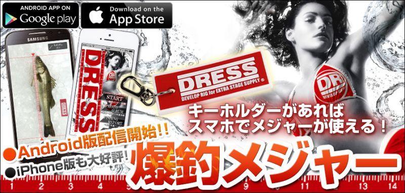 画像1: DRESSキーホルダー / スマホでメジャー アプリ対応