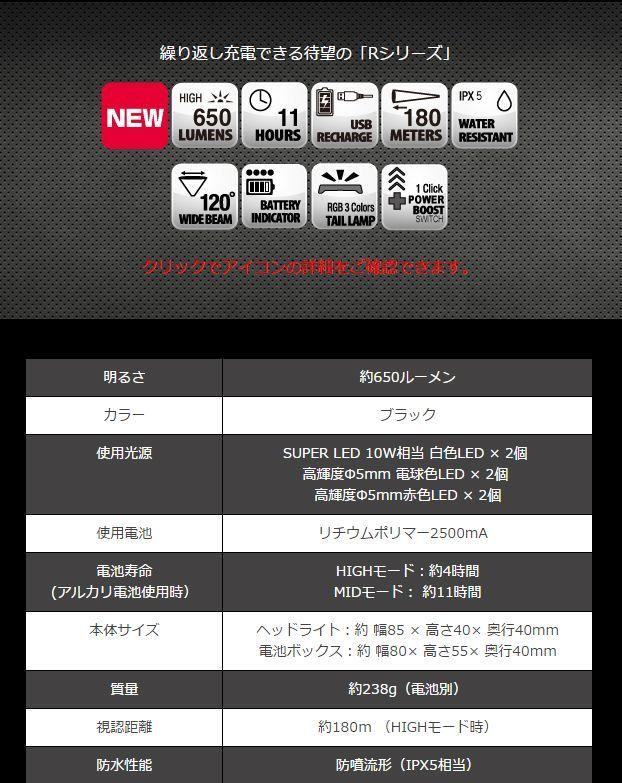 画像3: ZEXUS ZX-R700 約650ルーメン (40%Off)
