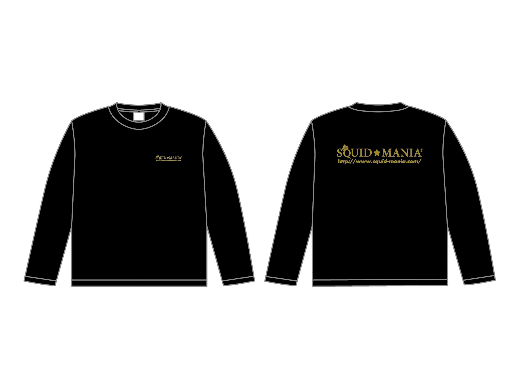 画像1: スクマニ CROWN RING ロングTシャツ(ブラック×ゴールドラメ)
