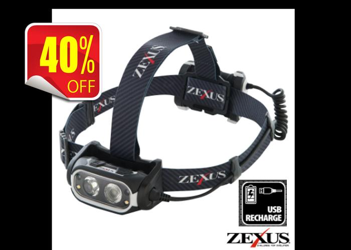 画像1: ZEXUS ZX-R700 約650ルーメン (40%Off)