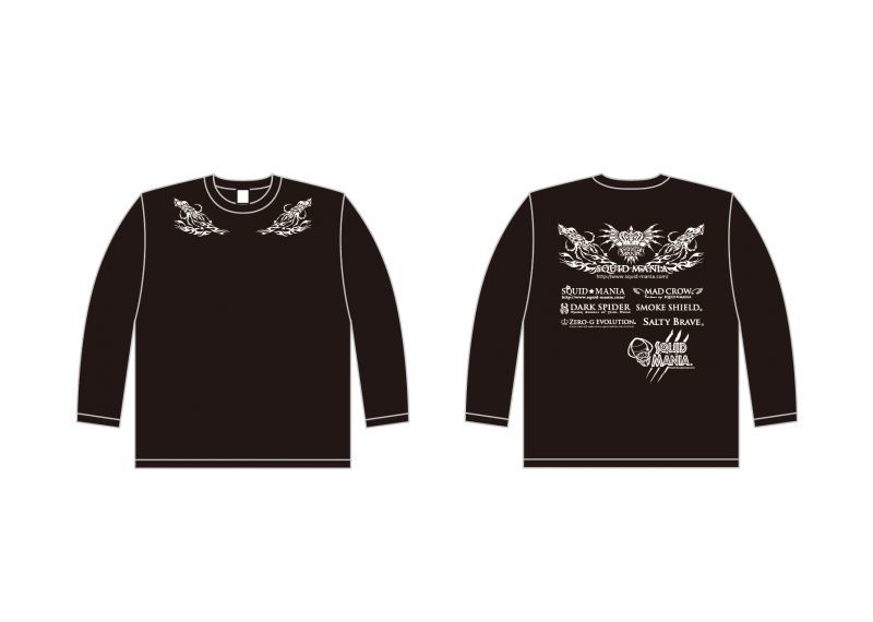 画像3: 2018 烏賊tribal &悪ロボ ロングTシャツ (BLACK/ホワイト)