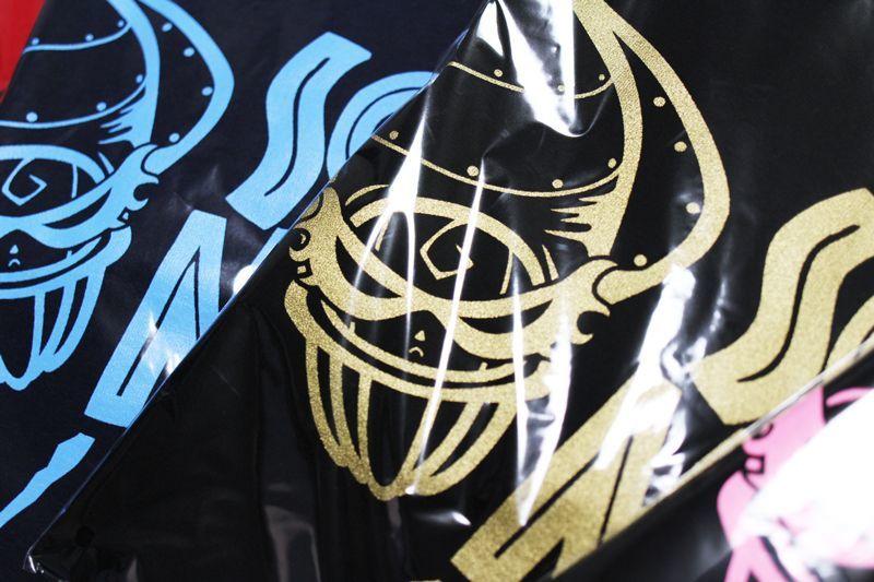 画像1: 悪ロボ ロングTシャツ(ネイビー×サックス)