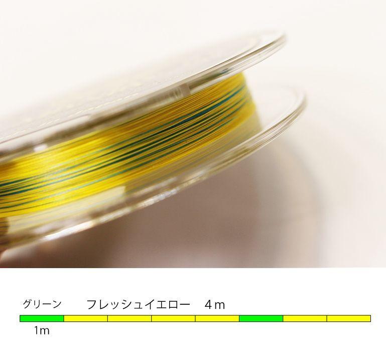 画像1: スクマニPE-8BRAID フレッシュイエロー&グリーン (0.6号 180m)
