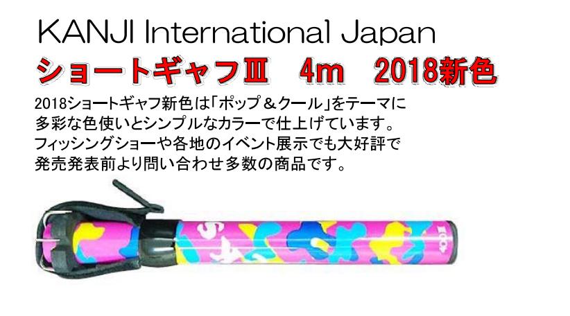 画像1: 2018 KANJI ショートギャフIII 4m (20%Off)
