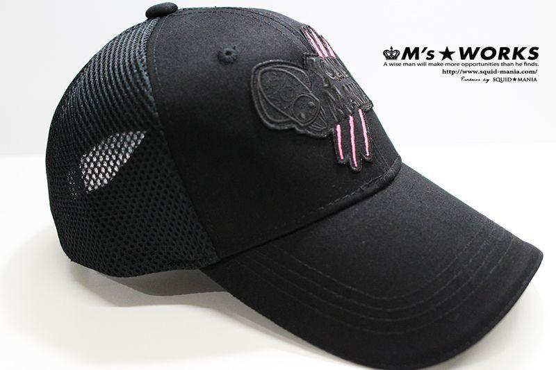 画像3: ツイルメッシュキャップ 烏賊ロボちゃん (ワッペン/ ブラック&ピンク )