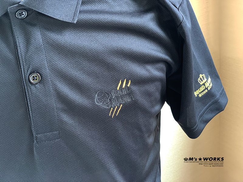 画像2: ドライポロシャツ 悪ROBO刺繍 BLACK&GOLD