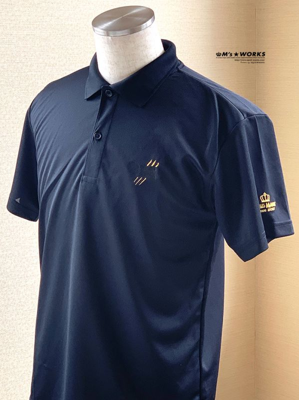 画像4: ドライポロシャツ 悪ROBO刺繍 BLACK&GOLD