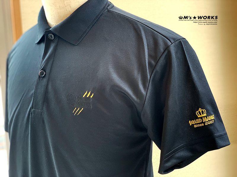 画像1: ドライポロシャツ 悪ROBO刺繍 BLACK&GOLD