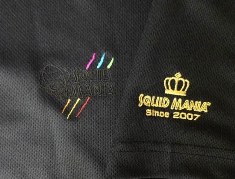 画像3: 悪ROBO刺繍 BLACK&キャンディドライポロシャツ(黒)