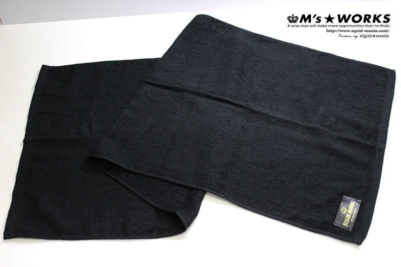 画像2: スクマニ ロング フェイスタオル 黒(W 90cm)