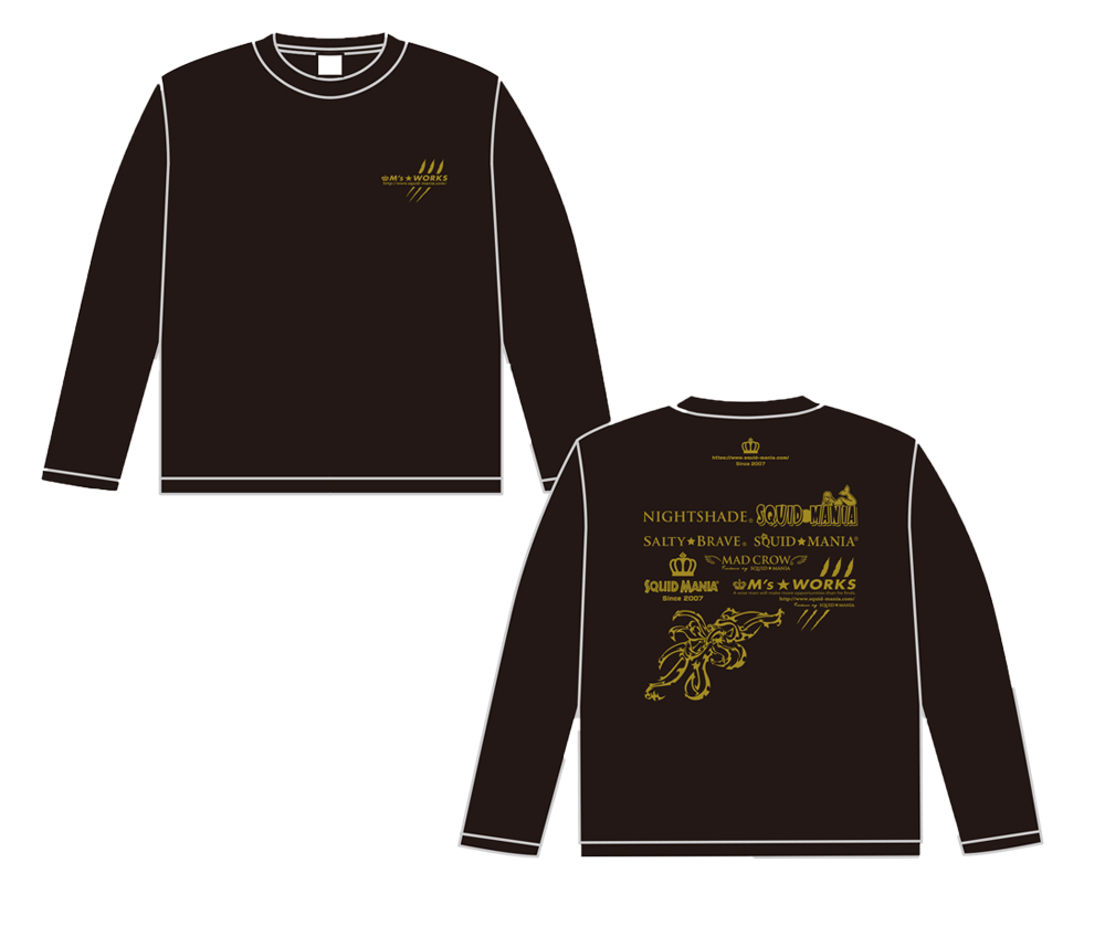 画像4: M's WORKS logo ロングTシャツ(黒/金)