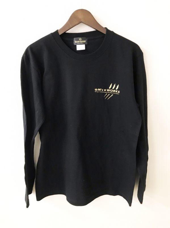 画像3: M's WORKS logo ロングTシャツ(黒/金)