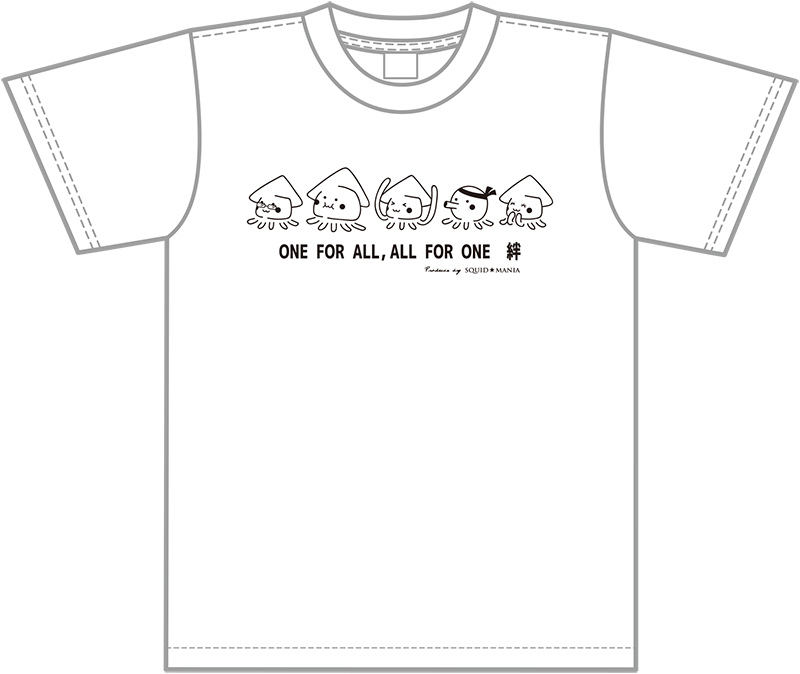 """画像2: IKATARŌ'S """"絆"""" ハイクオリティー綿Tシャツ (白×黒)"""