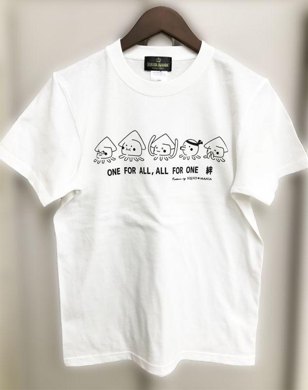 """画像1: IKATARŌ'S """"絆"""" ハイクオリティー綿Tシャツ (白×黒)"""