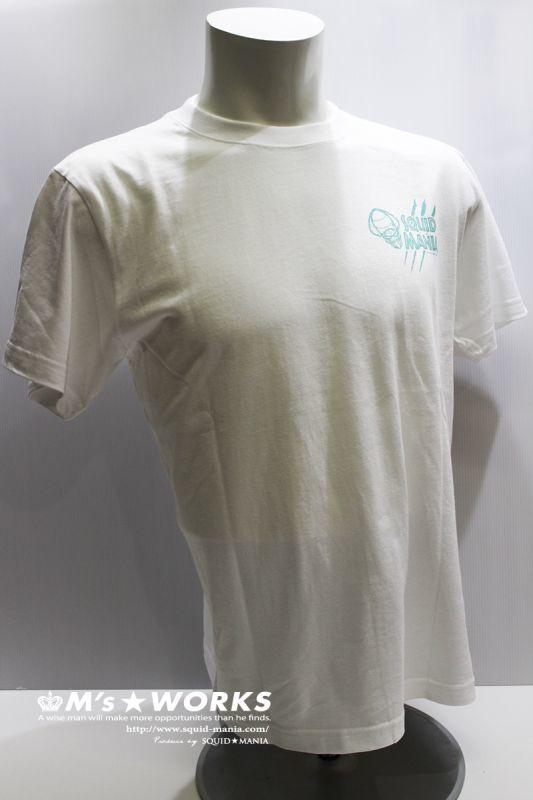 画像2: ハイクオリティーTシャツ スクマニ 悪ロボ (ホワイト/エメラルド)