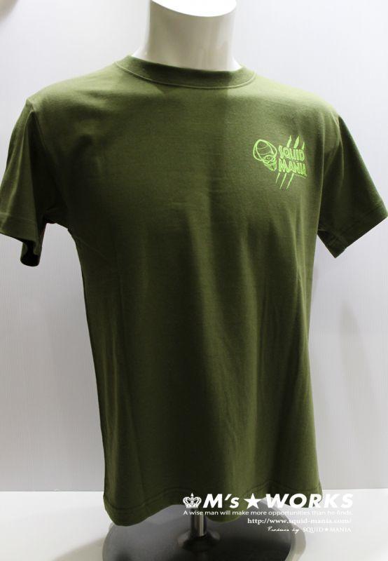 画像2: ハイクオリティーTシャツ スクマニ 悪ロボ (オリーブ/ライトグリーン)