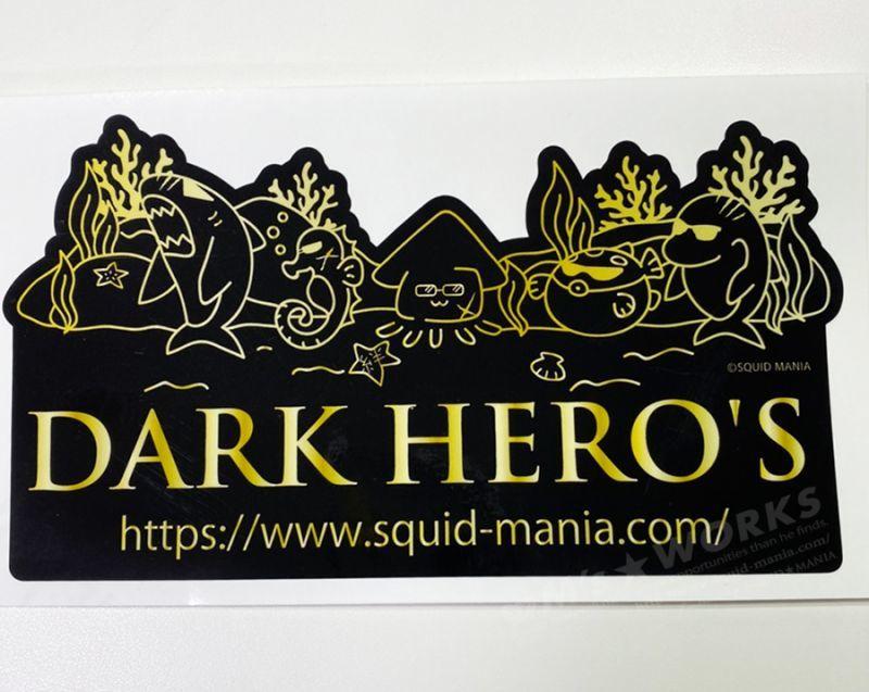 画像4: 切り抜きシール  DARK HERO'S   ( W180 )