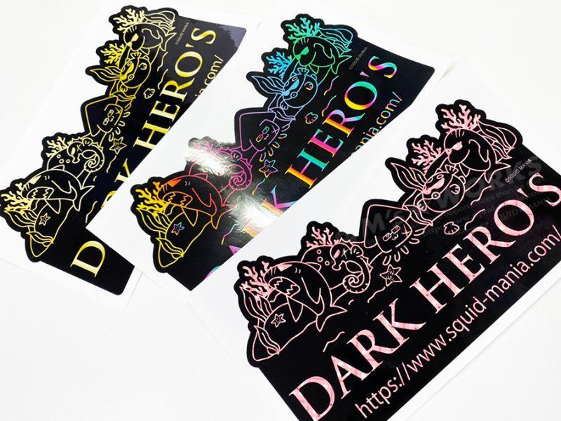 画像1: 切り抜きシール  DARK HERO'S   ( W180 )