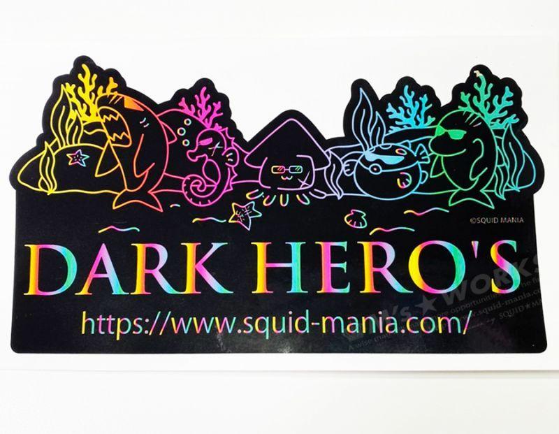 画像2: 切り抜きシール  DARK HERO'S   ( W180 )