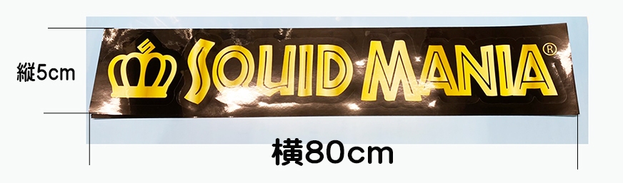 画像1: 切り抜きシール SQUID MANIA  ( W800 )