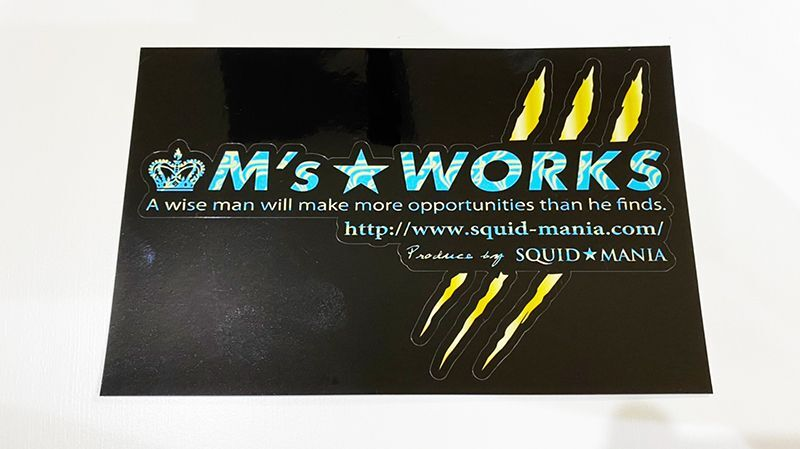 画像2: 切り抜きシール M's WORKS / 爪痕 GOLD ( W200 )